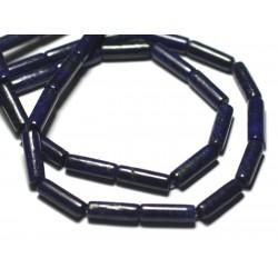 4pc - Perles de Pierre - Lapis Lazuli Tubes 13x4mm - 4558550095480
