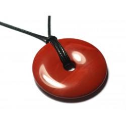 1pc - Pendentif Pierre semi précieuse - Jaspe Rouge Donut Pi 20mm - 7427039730037