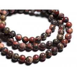 20pc - Perles de Pierre - Jaspe Léopard Boules 6mm - 7427039730136