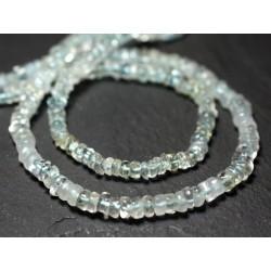 10pc - Perles de Pierre - Apatite Rondelles Heishi 3-4mm Bleu vert Paon - 7427039730310