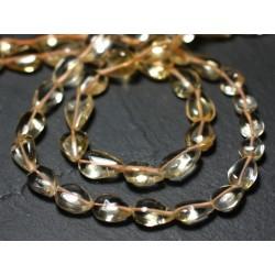 20pc - Perles de Pierre - Citrine Rondelles 4-5mm - 7427039730457