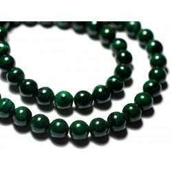 5pc - Perles de Pierre - Jaspe Zèbre Marron Beige Mat Sablé Givré Boules 8mm - 7427039731423