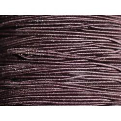 Bobine 100 mètres env - Fil Cordon Tissu Elastique 1mm Noir