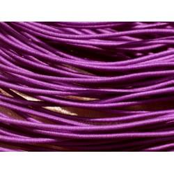 Echeveau 26m env - Fil Cordon Elastique Tissu Nylon 1mm Rouge vif - 7427039731959