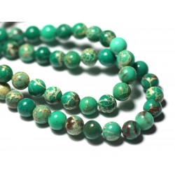 20pc - Perles de Pierre - Jaspe Sédimentaire Boules 4mm Vert Pomme - 7427039733229