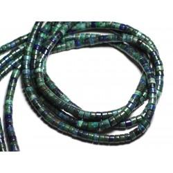 Fil 39cm 120pc env - Perles de Pierre - Chrysocolle Rondelles 5x3mm
