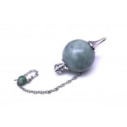 Pendule boule 30 mm jade vert
