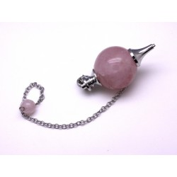 Pendule boule 25 mm quartz rose