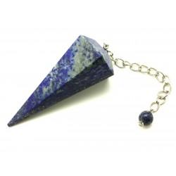 Pendule facetté 70x30 mm lapis lazuli