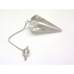Pendule facetté 25x30 mm cristal de roche