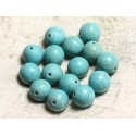 Boules 14mm Turquoise Synthèse