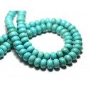 Rondelles 8x5mm Perles Turquoise Synthèse
