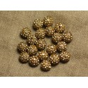 Perles Polymère Strass 8mm et 10mm Rondes