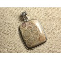 Pendentifs Corail Fossile Argent 925